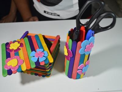 DIY: COFRES CON PALITOS DE HELADOS, MANUALIDAD. (Palitos de paleta) - Ideas Que Ocurre