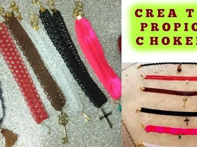 DIY ° COMO HACER TUS PROPIOS CHOKERS || Makeup Itzel