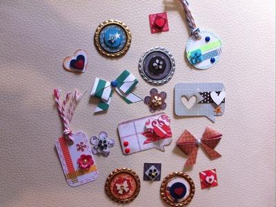 DIY: Embellecedores caseros.Embellishment. scrapbook