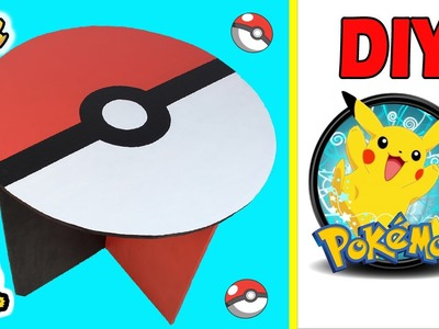 DIY- MESA POKEBALL de CARTON !! Con DCRAFTING - Mery