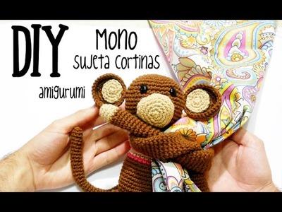 DIY Mono sujeta cortinas amigurumi crochet.ganchillo (tutorial)