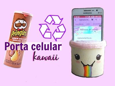 DIY porta celular kawaii con pringles (RECICLADO!) ♥