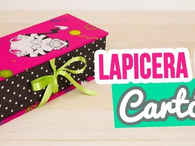 Lapicera de Cartón ✄ | DIY Estuche para Lápices Sin Coser | REGRESO A CLASES Catwalk Cartonaje ♥
