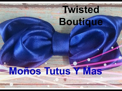 MOñO BOUTIQUE TWISTED Paso a Paso TWISTED SATIN HAIR BOW Tutorial DIY How To PAP
