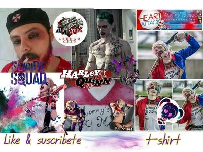 SUICIDE SQUAD playera para hombre harley quinn DIY cosplay jared leto joker tutorial