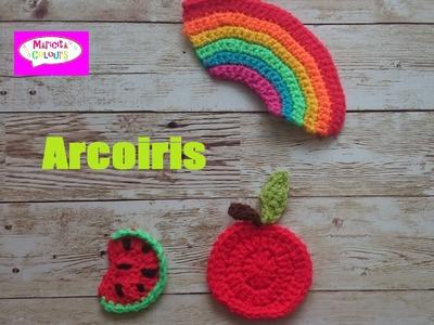 Arcoiris en Crochet Aplicación Tutorial por Maricita Colours