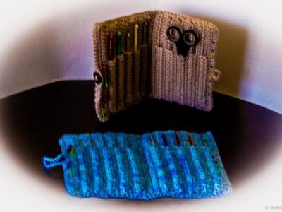 Como hacer estuche o cartuchera de escuela para las agujas de crochet.