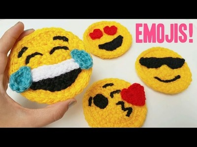 Como tejer EMOJIS A CROCHET (ENGLISH SUB!) | tutorial paso a paso · AHUYAMA CROCHET