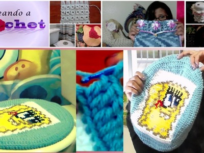 Cubierta para tapa del inodoro en crochet