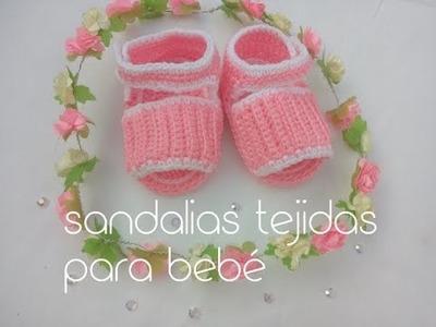 Sandalias o huaraches  para bebé tejidos a crochet