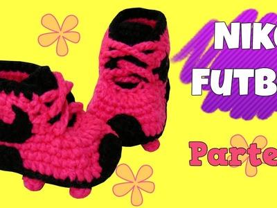 Zapatitos Nike de fútbol tejidos a crochet | parte 1.2