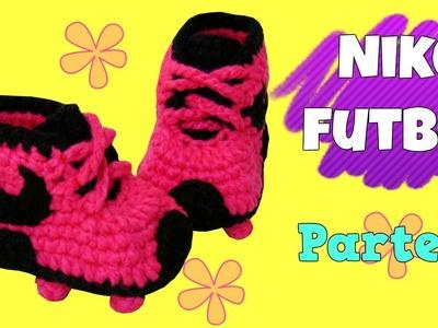 Zapatitos Nike de fútbol tejidos a crochet | parte 2.2