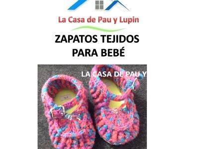 Zapatos tejidos para bebé, Crochet.