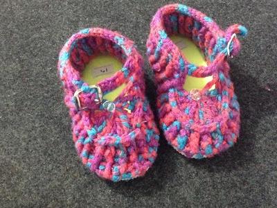 Zapatos tejidos Zapatos para bebé crochet, tejidos.