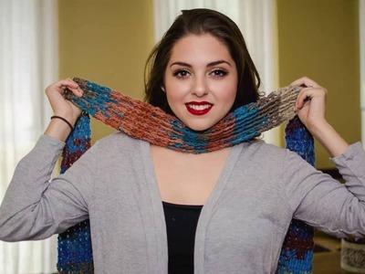 Bufanda cuello tejido a crochet punto  cruzado con columnas 02