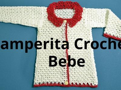 Camperita para bebe 3 meses en tejido crochet tutotial paso a paso.