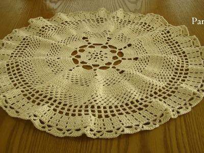 CENTRO DE MESA: arcos y espigas part.2--- tejido a crochet---paso a paso
