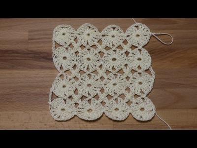 Circulos Unidos con 4 Puntos Crochet