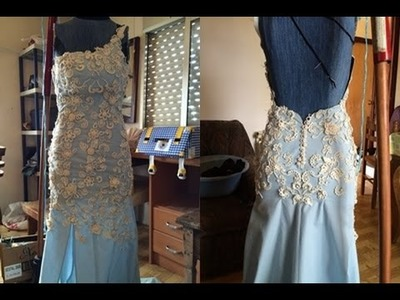 CROCHET IRLANDES- Vestido de novia- Colocacion de Motivos