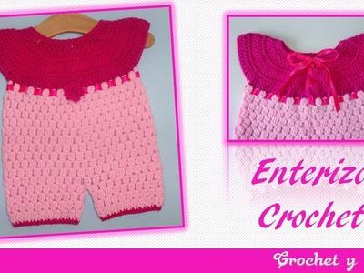 Enterizo tejido a crochet ganchillo para niñas – Parte 3.3