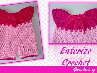 Enterizo tejido a crochet para niñas – Parte 1.3