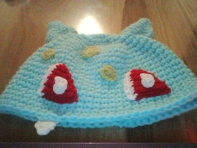 Gorro de Pokemon a crochet |Bulbasaur|