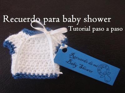 Recuerdo para baby shower a crochet. tutorial paso a paso
