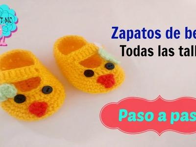 Tutorial zapatos para bebé a crochet - pollita