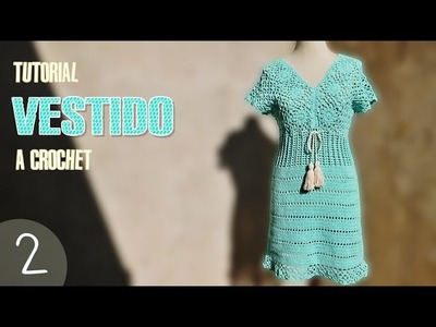Vestido para mujer tejido a crochet, paso a paso (2 de 3)