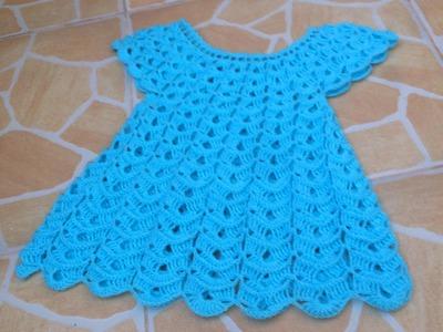 Vestido tejido a crochet todas las tallas parte 1