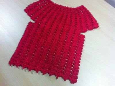 Blusa nina tejida a crochet facil parte 1.2