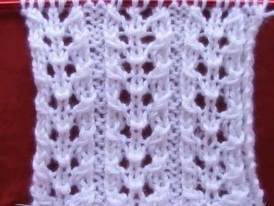 Cómo Tejer PUNTO FANTASÍA-Lace Knitting Stitches 2 Agujas (374)