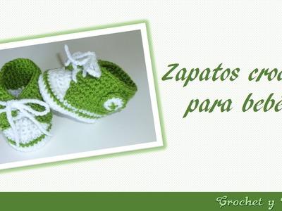 Como tejer zapaticos, escarpines, patucos, boticas, estilo converse a crochet para bebés   Parte 2