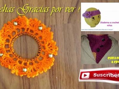 Decorar Liga para el Cabello Ganchillo con cuentas (Crochet)