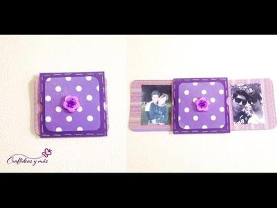 DIY: Tarjeta deslizable doble (scrapbook).exploding box. caja explosiva