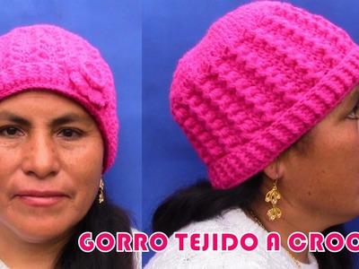 Gorro Crochet en una sola talla para niñas, señoritas y señoras