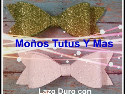 LAZO DURO DE FOAMY Paso a Paso STIFF HAIR BOW Tutorial DIY How To PAP