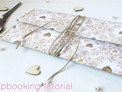 SCRAPBOOK TUTORIAL Cómo hacer sobre para bodas, comuniones. (DIY) | Laila color