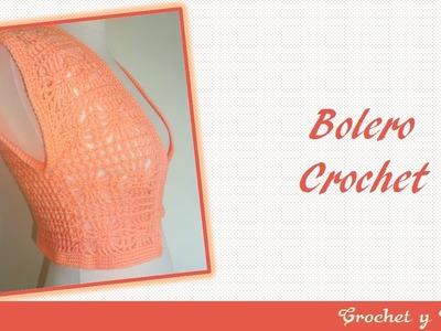 Bolero tejido a crochet con punto fantasía – Parte 1