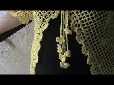CHALECO CON MANGAS EN CROCHET  XL (contorno y cordones 3 de 3)