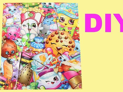 DIY SHOPKINS en español puzzle manualidades de shopkins - videos de juguetes