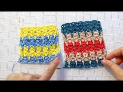 Puntada en crochet gatitos facil y rapido.