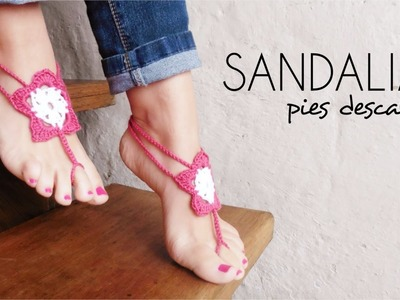 SANDALIAS PIES DESCALZOS a crochet | BAREFOOT SANDALS (english sub) | paso a paso AHUYAMA CROCHET