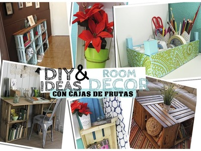 DIY & IDEAS DECORACION CON CAJAS DE FRUTAS | Maria Rupa