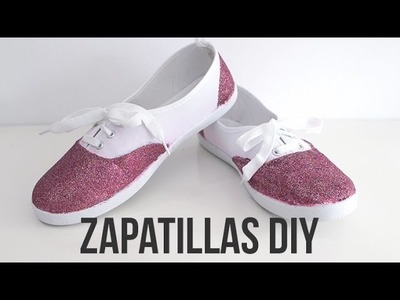Zapatillas DIY con purpurina