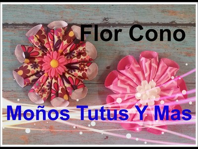 Como Hacer FLOR CONO Paso a Paso CONE FLOWER Tutorial DIY How To PAP