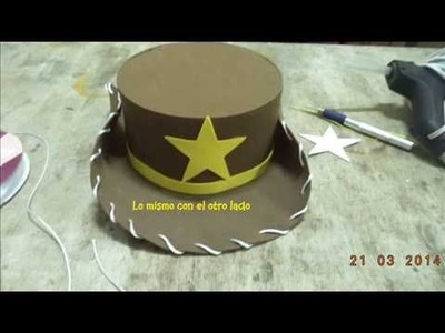 Copia de Como hacer sombrero woody de toy story foamy - DIY