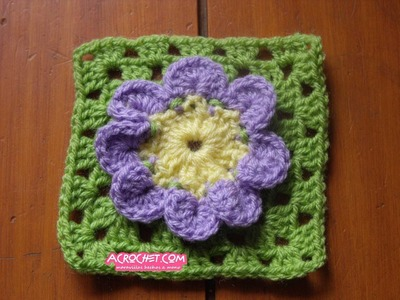 Haciendo una flor de 8 pétalos parte 1