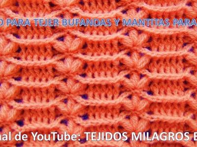 Punto tejido a crochet # 11 para mantitas y cobijas de bebe