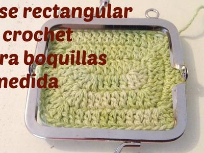 Base de monedero a crochet para boquillas rectangulares